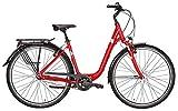 Damen Fahrrad 26 Zoll rot - Pegasus Citybike Solero SL - Shimano 7-Gang Nabenschaltung, Rücktrittbremse, STVZO Beleuchtung