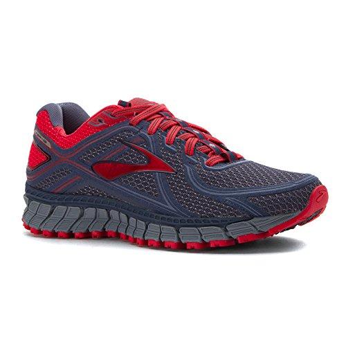Brooks Adrenaline Asr 13, Chaussures de Course Femme, Bleu/Rouge Multicolore (Crownblue/teaberry/stonewash)
