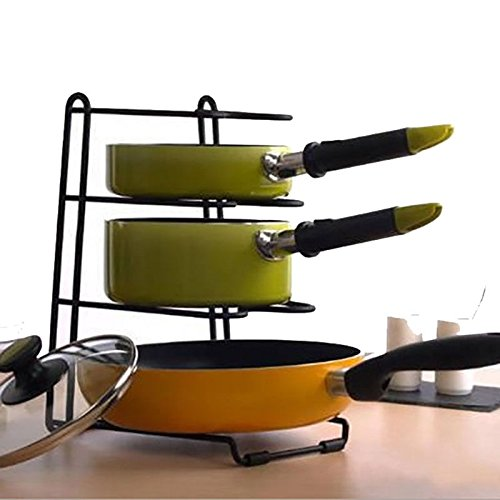 Multifunction Pan Pot Rack Cookware Organizer Stand Holder Shelf Kitchen Storage