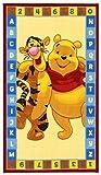 Kinder Teppich Kinderteppich mit Winnie the Pooh / ABC / Teppich / Kinder Teppich / Kinderspielteppich / Kinderteppich / Wandteppich / Modell Kinderteppich Disney Winnie the Puuh Bär / Dieser wunderschöne und Kinderteppich mit Winnie ist in der Größe 140 x 80 cm oder 170 x 100 cm erhältlich / Dieser Kinderteppich begeistert die Kids im Nu.