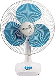 Orient Electric Table-86 400mm Table Fan (Crystal White/Sky Blue)