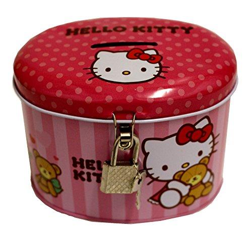 Sanrio Hello Kiitty Spardose mit Schloss und Schlüssel (Pig Peppa Maskottchen)