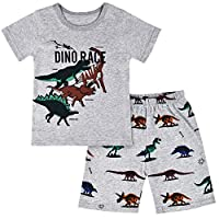Children Kids Dinosaur Car Boys Pajamas Sets Baby Pjs Sleepwear T Shirt & Shorts Pants Pyjamas Sets Nightwear Outfit