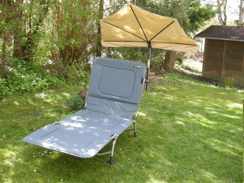 Chaise de camping DELUXE 150 kg-Beige-pliante Chaise pliante Chaise ANGEL Régie chaise