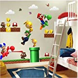 Nieuwe Super Mario Bros Verwijderbare Muurstickers Decal Kids Home Decor