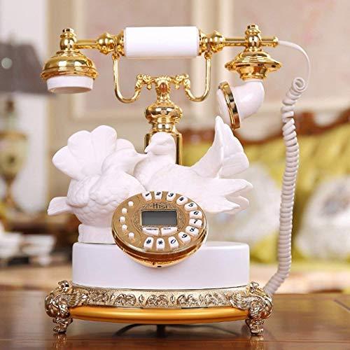 Dianh Teléfono/Herramienta de llamada Teléfono antiguo, paloma/Aparatos telefónicos/Identificación de la llamada/Retroiluminación de la pantalla Azul 25.5X25.5X31Cm Teléfono móvil