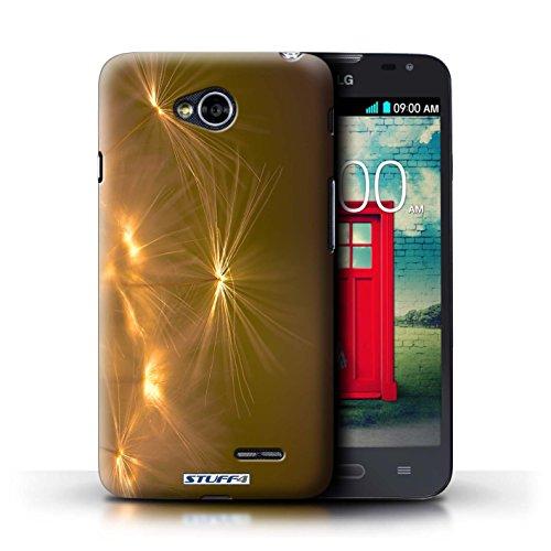 Kobalt® Imprimé Etui / Coque pour LG L70/D320 / Jaune conception / Série Allumez la vie Orange