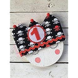 Corona de piratas para cumpleaños.