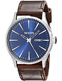 Nixon Herren-Armbanduhr XL Analog Quarz Leder A1051524-00