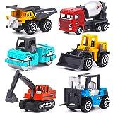 YIMORE Vehicules de Chantier 6 pcs Jouet Camion Voiture Véhicule de Construction...