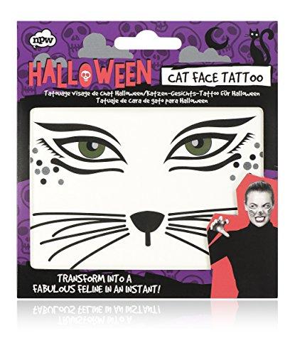 NPW NP36589 Halloween Katze Face Tattoo (Katze Gesichter Halloween-kids Für)