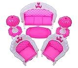 SunnyGod Zartes und ideales Geschenk Puppenhaus Möbel Sofa Tischlampe Couchtisch Set Für Puppenhaus Prinzessin Zimmer Dekorative (Rosa)