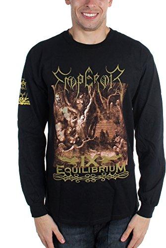 Mens imperatore IX Equilibrium-Maglia a maniche lunghe nero Medium