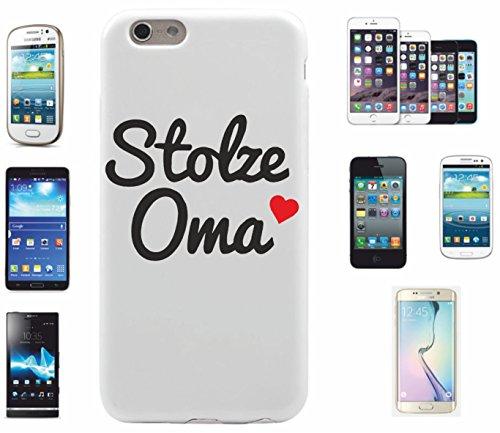 "Preisvergleich Produktbild Smartphone Case Samsung Galaxy S4 Mini ""Stolze Oma Herz"" Spass- Kult- DVD- Fun- JGA"