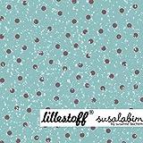 Lillestoff Wichtelpunkte blau braun Kombistoff Susalabim