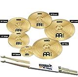 Meinl Cymbals HCS-SCS Beckenset 6 teilig 10/14H/16/16CH/18/20R + KEEPDRUM Drumsticks 1 Paar