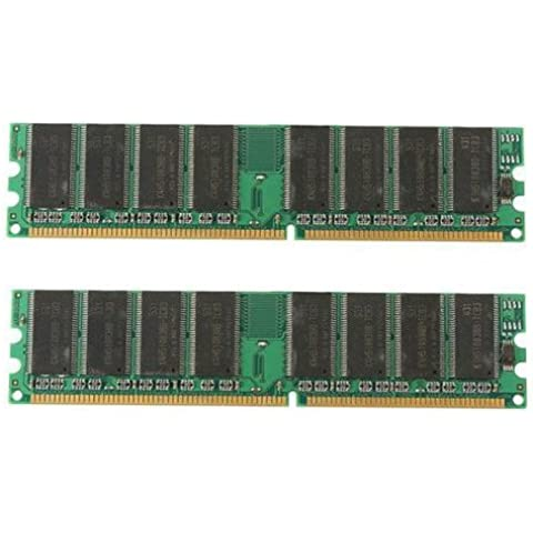 Memoria - TOOGOO(R)2 x 1GB DDR 400 MHz PC3200 PC3200U ordenador memoria