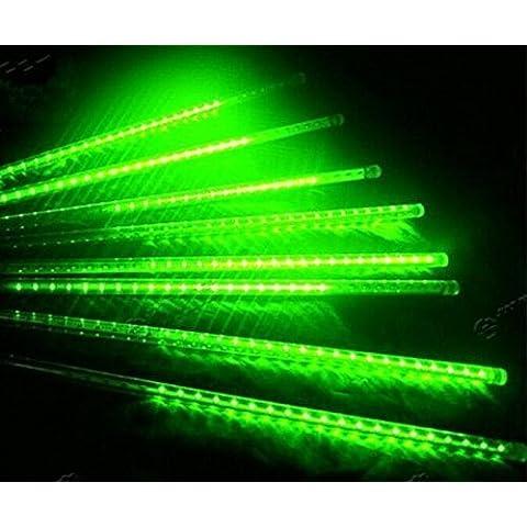 Shangge 30cm 10Tube SMD luce effetto PIOGGIA di meteore caso Meteor 100V-240V decorazione da giardino Leuchten catena luminosa per esterni natale decorazione moderno verde