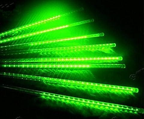 shangge 30cm 10Tube SMD lumière Chutes de neige Meteor de pluie de météores 100–240V Luminaire de décoration guirlande lumineuse pour extérieur jardin Noël Décoration Moderne vert