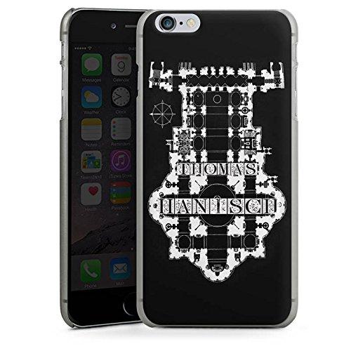 Apple iPhone X Silikon Hülle Case Schutzhülle Thomas Hanisch Schwarz Weiß Rock n Roll Hard Case anthrazit-klar