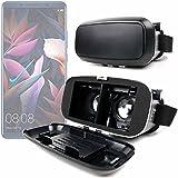 DURAGADGET Gafas de Realidad Virtual VR ajustables en color negro para Smarphones Smartphone Archos Diamond Omega / Huawei Mate 10 Porsche Design , Mate 10 Pro , Mate 10 + gamuza limpiadora.
