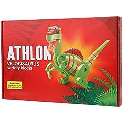 Kofun Puzzle juguete regalo 3d modelo Funny Kids dinosaurio bloques de construcción, EVA, Velociraptor, 40x13x25cm(15.75x5.12x9.84inch)