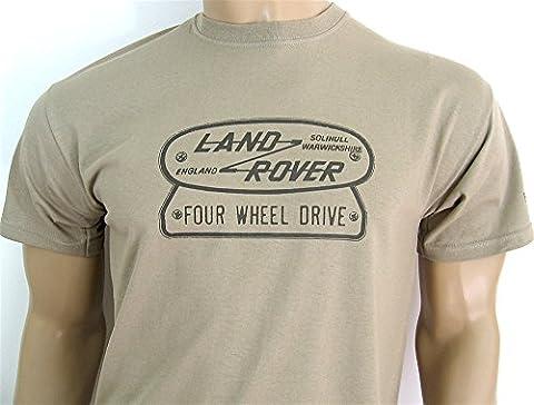 LAND ROVER FOUR WHEEL DRIVE LOGO T-SHIRT in size XL