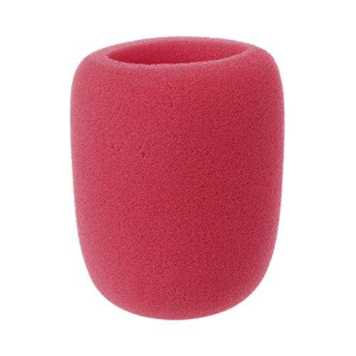 GROOMY Soft verdicken Mikrofonschaum Mic Cover Sponge Cap Studio Schutzgitter - rot