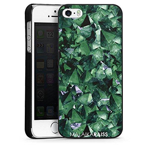 Apple iPhone 5s Housse Étui Protection Coque Cristal Motif Motif CasDur noir
