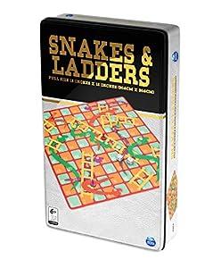 """Spin Master SPINMASTER 6036771""""Serpientes y escaleras Lata Juego"""