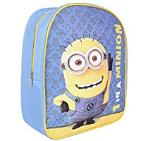 Despicable me Backpack for Kids - School Bag with Minions Bob Print - Small Backpack for School and Kindergarten with Adjustable Shoulder Straps - 28,5x23x7,5 cm - Perletti