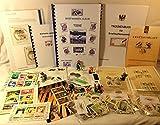 Boemaus500 Briefmarkenset für Kinder, Thema: Tiere , mit Trockenbuch,Pinzette und Lupe (XXXX-Large)