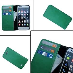 i-KitPit - PU Leather Wallet Flip Case Cover For Blackberry Q10 (GREEN)