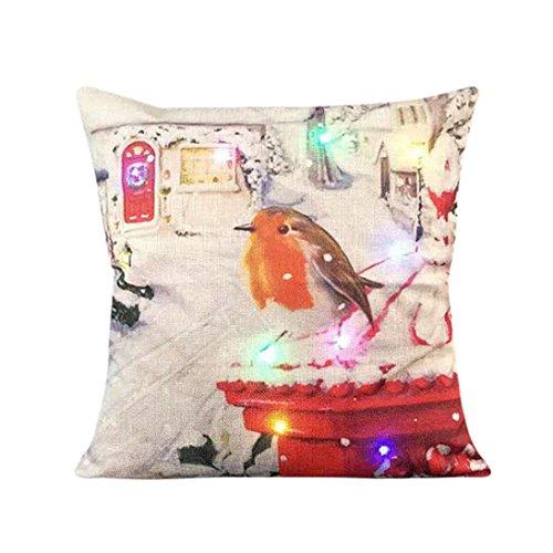 Schwarze Holz-plattform-bett (sunnymi Neue LED Kissenbezug Weihnachten Pillowcase 45 * 45cm Farbe Lichter Weihnachtskissen LED Lichter Kissen Kreatives Drucken Leinen (B, Mehrfarbig))