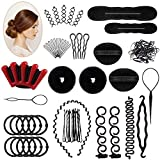 25 PCS Haar Styling Design Zubehör styling Set, Haar Modellierung Tool Kit Magic Haar Clip Haarknoten Maker Braid Werkzeug für Mädchen Frauen Mode Haar Design DIY