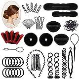 25 PCS Haar Styling Design Zubehör styling Set,Haarzubehör für frisuren,Haar Modellierung Tool Kit Magic Haar Clip Haarknoten Maker Braid Werkzeug für Mädchen Frauen Mode Haar Design DIY