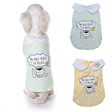 WIDEN chemises décontractées Chemise manteau pour animaux de compagnie Vêtements