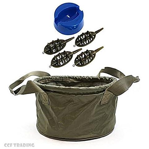 Groundbait Method Mix Mixing Bowl With Method Feeder Set Carp Fishing Tackle