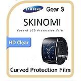 Skinomi TechSkin Protecteur intégral hyper-® Samsung Gear-S Film de protection d'écran de ...