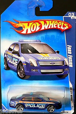 hot-wheels-2009-109-ford-fusion-blue-police-hw-city-works-3-of-10-164-scale-by-hot-wheels