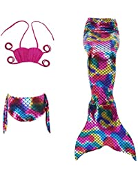 Le SSara Filles Sea-maid Cosplay maillots de bain sirène Shell maillot de bain 3pcs ensembles Bikini