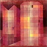 Posterlounge Leinwandbild 120 x 120 cm: Burg 1 von Paul Klee - fertiges Wandbild, Bild auf Keilrahmen, Fertigbild auf Echter Leinwand, Leinwanddruck