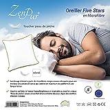ZenPur Oreiller Sensuel Prime Micro-Fibre Meilleur que ceux des Hôtels 5 étoiles - 60x60cm - Toucher Peau de Pêche pour un Sommeil Doux et Profond - Accepte une Taie d'Oreiller de 70x70cm
