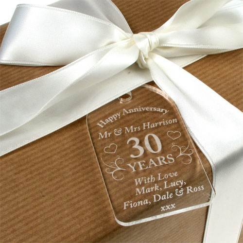 Personalised 30th Anniversary Gift Wedding Gifts Tag Amazoncouk Kitchen Home