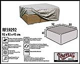 RFS9292 Wetterschutz für Geflecht Lounge Tisch, Kaffeetisch, Lounge Hocker, Rattan Fussteil oder Fussstütze Plane, abdeckhaube, abdeckung, hülle
