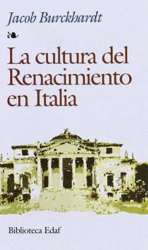 Cultura Del Renacimiento En Italia (Biblioteca Edaf) por Carl Jacob Christoph Burckhardt