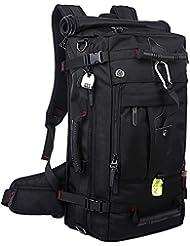 AcTopp Mochila Impermeable Bolso Trekking Macuto Senderismo Alpinismo Viaje al aire libre Mochila/Bolso en Bandolera/Bolso de Mano 3 en 1 con Cerradura de Contraseña 40L Color Negro