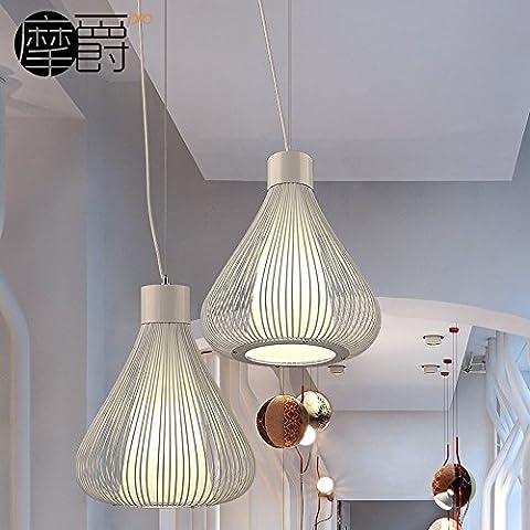 Le luci pendenti la cipolla e lampadari e mescolare con una frusta il ristorante camera da letto gabbia in ferro lampadari creative ,33*48cm, nero