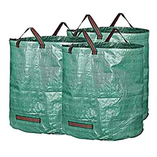 RANRANHONME Gartenmüll Beutel, Wiederverwendbare Werft Taschen Garten Bude Rasen Blätter Taschen (3 Packung) (Wiederverwendbare Rasen-taschen)