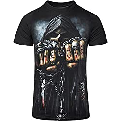 "Camiseta de manga corta ""Game Over"" de Spiral Direct (Negro) - S"